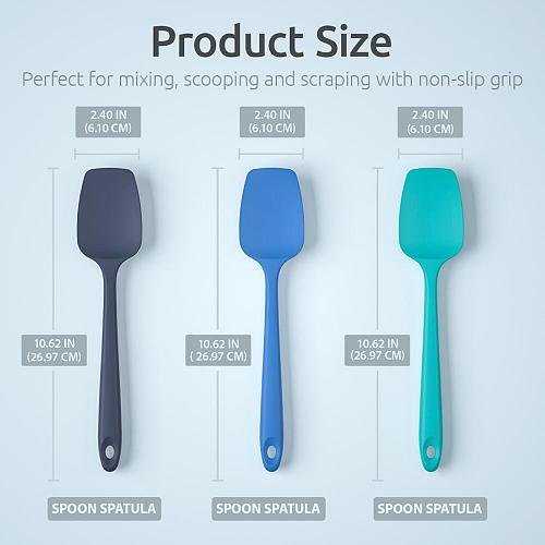 U-Taste 3PCS Silicone Spatula for Frying Pan Kitchen Spatula Spoon Silicone Pastry Spatula Baking Cooking Accessories Utensils