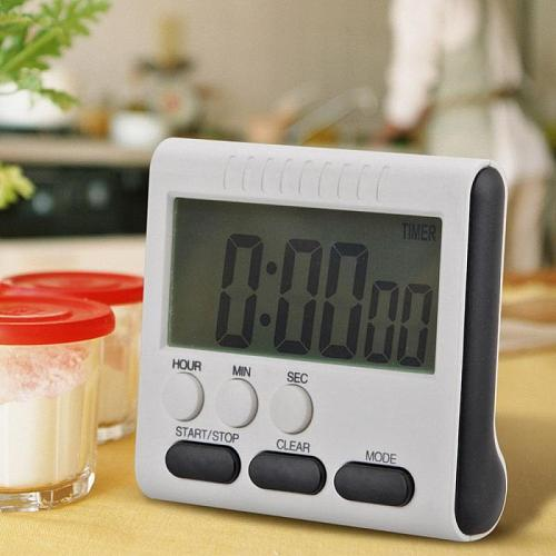 HOT!Kitchen Digital Timer Large Display Digital Timer Square Cooking Baking Count Up Countdown Alarm Clock Sleep Stopwatch Clock