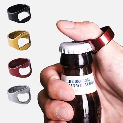 1Pc Multi-function Stainless Steel Colorful Ring Shape Wine Opener Beer Bottle Opener Diameter 22mm Wedding Party Accessories