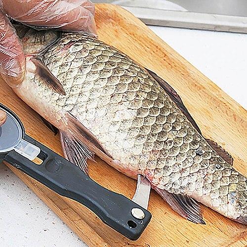 New Practical Fish Scale Skin Remover Scaler Skinner Scraper Knife Cleaner Kitchen Peeler Fishing Tools Kitchenware Peeler