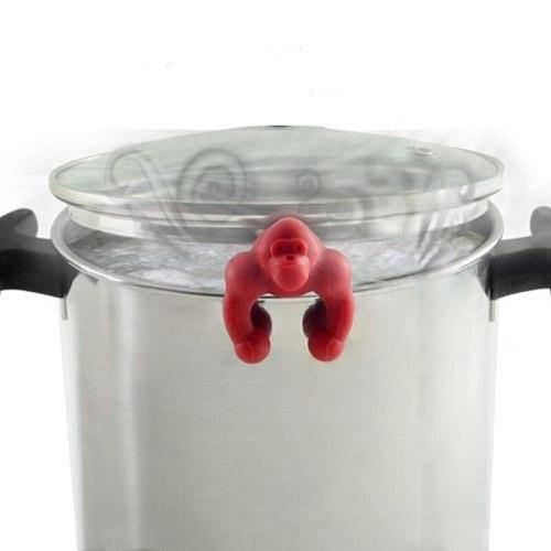Creative Gorilla Pot Cover Prevent Overflow Chimpanzee Silicone Tea Bag Holder Kitchen Gadgets