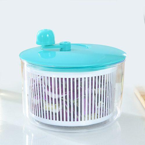 Salad Spinner Vegetables Leaf Lettuce Dryer Drainer Fruit Wash Clean Basket Plastic MU8669