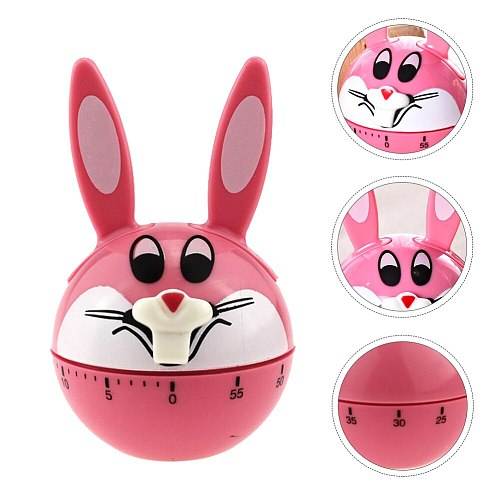 1Pc Household Mechanical Timer Creative Rabbit Shaped Timer Timing Tool )