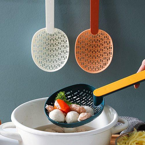 Plastic Cooking Shovels Soup Filter Kitchen Tools Nylon Scoop Colander For Dumpling Spaghetti Food Strainer Scoop