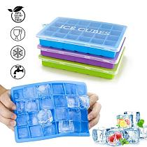 24 Grid Square Ice Tray Mould Easy Release Mold Silicone Tray Silicone Form Bar Kitchen Accessories