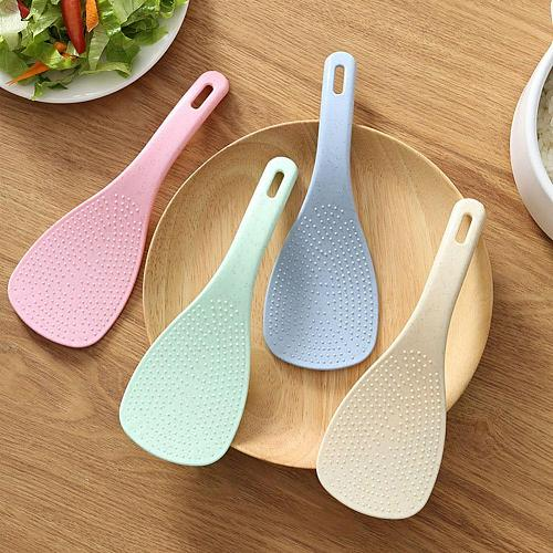 1Pcs Wheat Straw Material Non-Stick Rice Spoon Kitchen Utensil Rice Cooker Shovel Rice Paddle Meal Spoon Kitchen Accessories