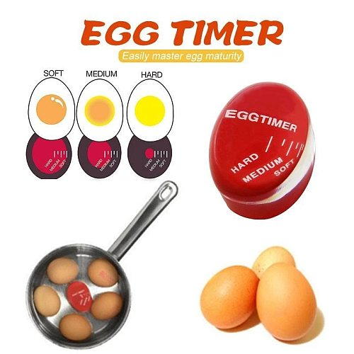 2PCS Egg Timer Kitchen  Perfect Egg Changing Color Eggtimer Resin Material Temperature Cooking Gadgets Dropshipping