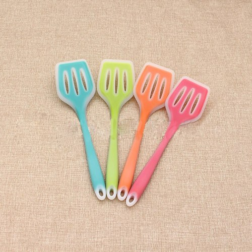 Silicone Turners Gadgets Kitchen Tools Egg Fish Frying Pan Scoop Fried Shovel Spatula Cooking Utensils