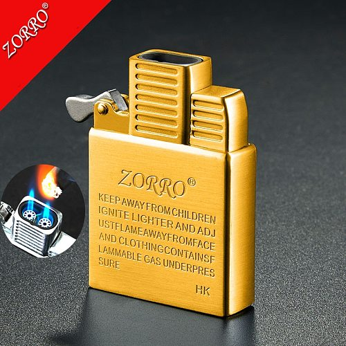 ZORRO Stainless Steel original Copper lighter inner insert parts two Direct Punch JET flames Core tank accessory