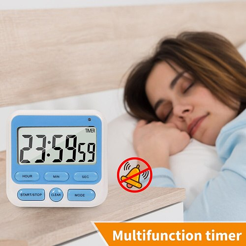 Mini Sleep Stopwatch Kitchen Magnetic Digital Display Timer Count Up Countdown Digits Alarm for Cooking Baking Sports