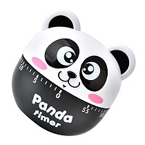 Adorable Timer Creative Panda Shaped Clock Student Time Manager Kitchen Baking Timer for Home Kitchen Students (Black)