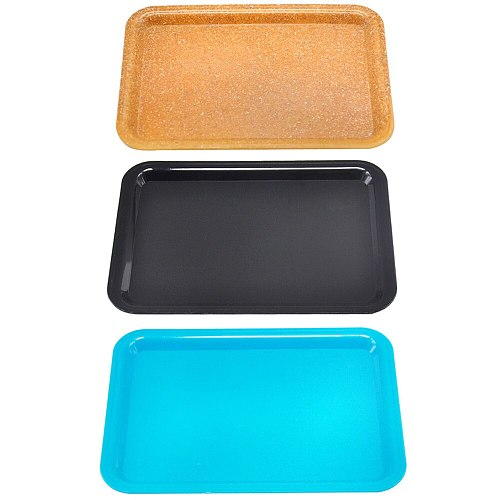 Portab Plastic Tobacco Rolling Tray Storage Plate Discs For Smoke Bob Marley Weed Herb Grinder Cigarette Container Tray Ashtrays