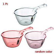 Long Handle Water Scoop Transparent Durable Thick Bathing Ladle Spoon Household Bathroom Kitchen Gadget Supplies