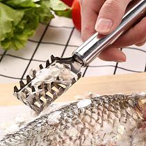 Fast Cleaning Fish Peeler Scale Remover Stainless Steel Seafood Crackers Fish Scaler Cleaner Planet Skin Brush Scraper Tool