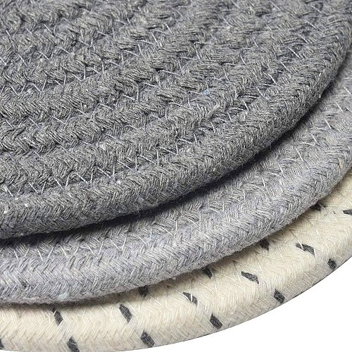 Mats Cotton Trivets Handmade Weave Round Coaster Pad Placemat Table Heat Resistant Hot Insulation Anti-Skidding Pad