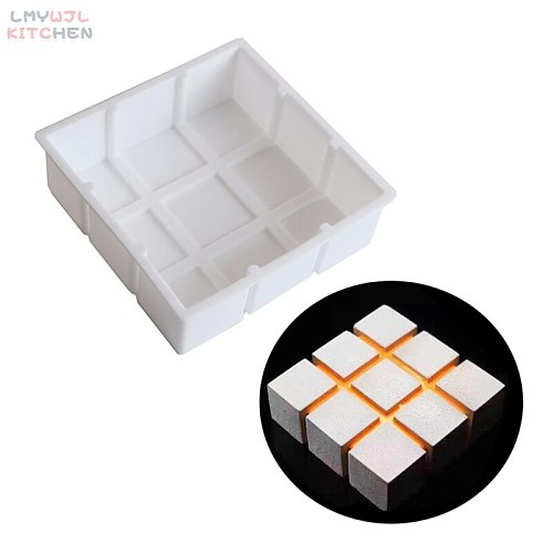 Square Cake Silicone Mold DIY Chiffon Mousse Chocolate Dessert Mold Silicone Bakeware Baking Accessories Cake Decoration Tools