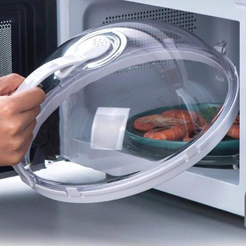 1pc Microwave Oven Food Cover Transparent Anti Sputtering Reusable Cookware Parts portable practical kitchen accessories gadgets