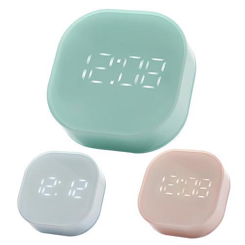LED Digital Alarm Clock with Backlit Alarm Clock Mini Portable Magnetic Electronic Temperature Display Alarm Clock Kitchen Timer