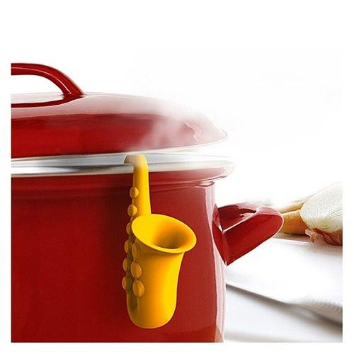Creative Cute Horn Saxophone Pot Covers Prevent Overflow Lifting Pot Holder Kitchen Gadgets