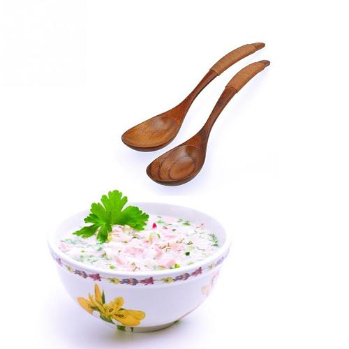 1/3pcs Wooden Spoon Chinese Lacquer Tableware Heat Resistant Wood Soup Spoon Brown khaki Handle Kinking Style Spoon Drink Soup