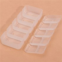 1 Set Sushi Mold Japan Plastic Tools 5 Rolls square shaped Sushi Mold Maker Non Stick Press Drop Shipping DIY Tools