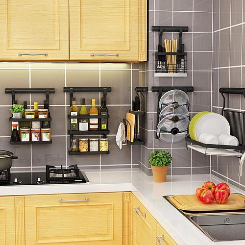 Pot Lid Rack Wall-mounted Pan Pot Cover Lid Rack Stand Stove Organizer Kitchen Storage Holder Rack Shelf Kitchen Accessory