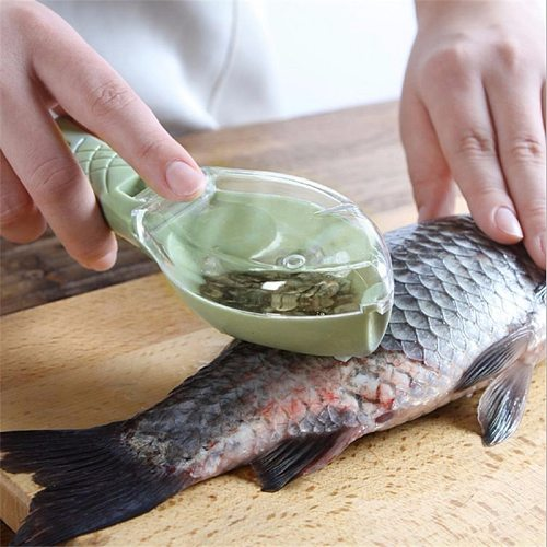 Creative Kitchen Tools Accessories Cozinha Fish Scale Remover Knife Cleaning Peeler Practical Kitchen Supplies Cooking Gadgets-C