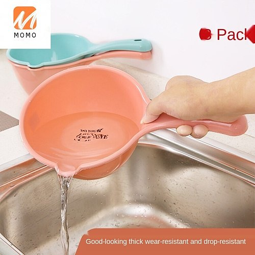 Household Kitchen Water Scoop Thickened Plastic Water Spoon Bath Scoop Water Ladle Practical