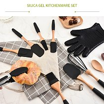 Silicone Wood Turner Spatula Brush Scraper Pasta Gloves Egg Beater Kitchen Accessories Baking Cooking Tools Kitchenware Cookware