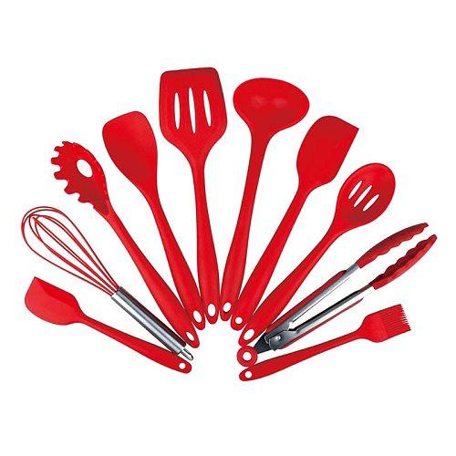 Silicone Kitchen Accessories Cooking Tools Nonstick Heat Resistant Kitchen Utensils Set Kitchen Spoon Cheese Mold Oil Spray Kits