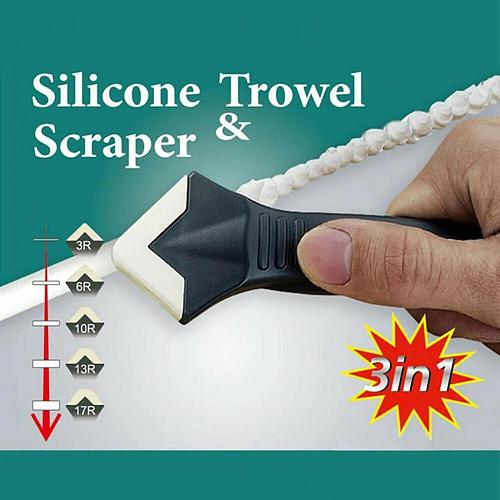 3 in 1 Reusable Caulking Supplies for Bathroom Joint Trowel Residue Scraper Floor Remover Caulk Finisher