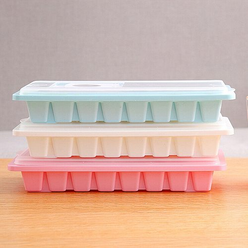 2021 top home decor Cavity Ice Cube Tray Box With Lid Cover Drink Jelly Freezer Mold Mould Maker WH товары для дома
