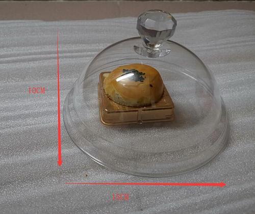 PC Transparent Acrylic Food Dust-proof Plastic Round Cake Fresh-keeping Lids