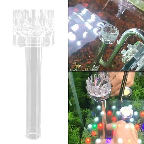Acrylic Oil Skimmer Aquarium Filter Degreasing Film Float Inlet Outlet Pipe Remove Oil Slick Degreasing Film Basket for P15D