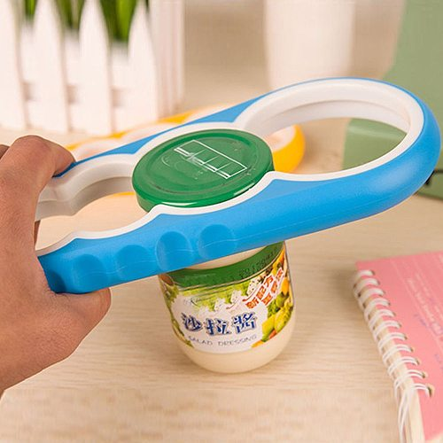 Jar Opener, Easy Grip Bottle Opener Twist Off Lid Quick Opening Cooking Everyday Use for Weak Hands and Arthritic  Kitchen Tools