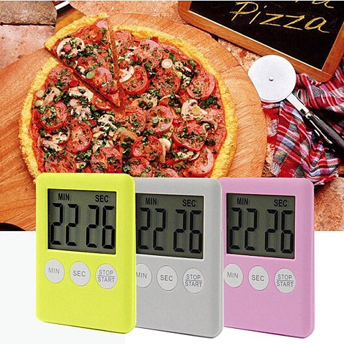 1Pc Super Thin LCD Digital Screen Kitchen Timer Square Cooking Count Up Countdown Alarm Magnet Clock Kitchen Timers для кухни