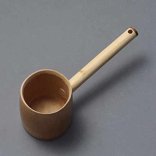 Bamboo Water Ladle Tea Water Scoop Bathing Dipper Ladle Sauna Ladle for Kitchen Garden
