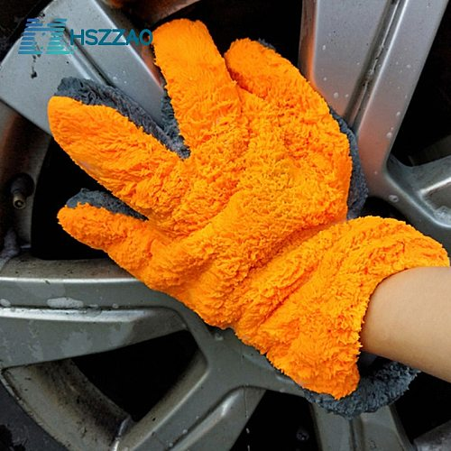 1 Pcs Ultra-Luxury Microfiber Car Wash Gloves Car Cleaning Tool Home use Multi-function Cleaning Brush Detailing