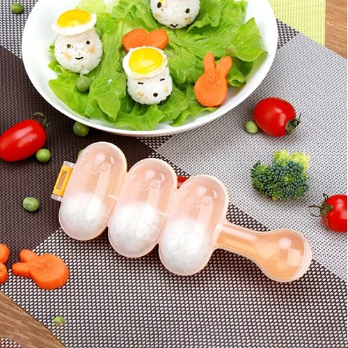 Kitchen DIY Sushi Mini Rice Tools Balls Maker Mold With Spoon Rice Ball Molds Rice Meat Vegetables Making Kitchen