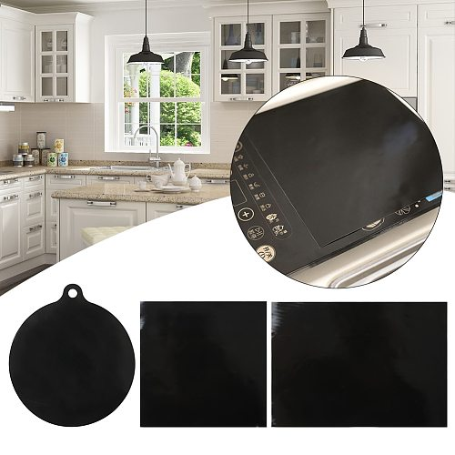 Home Kitchen Silicone Induction Cooker Table Pad Black Dinning Room Large Trivet Counter Protective Heat Insulation Hot Pot Mat