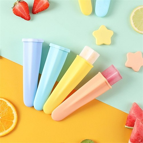 Creative DIYChildren's Popsicle Mold Kitchen Household Five-Pointed Star Food Grade Ice Cream Mold Silicone Sorbet Mold Portable