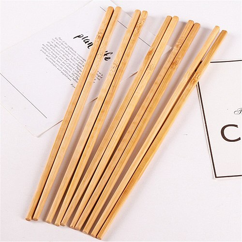 5 Pairs Health Without Lacquer Wax Tableware Dinnerware Natural Wooden Bamboo Chopsticks