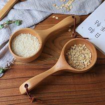 Portable Wooden Spoon Rice Scoop Sauna Water Ladle Bath Water Scoop Kitchen Utensil Tool Measuring Spoon