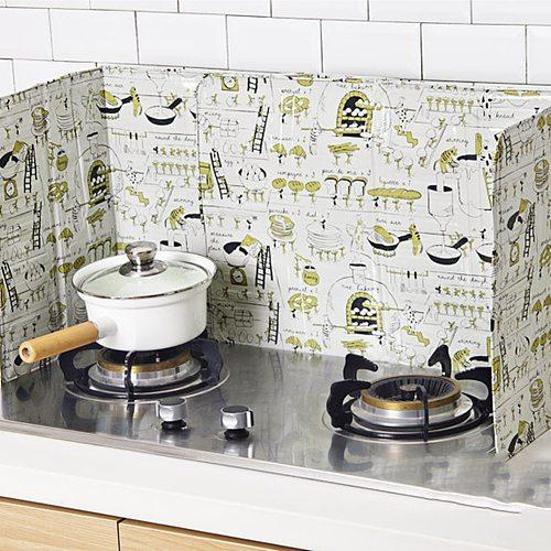 Kitchen Gadgets Oil Splatter Shield Guard Screens Aluminium Foil Gas Stove Foldable Splash Proof Baffle Plate Cooking Tools Hot