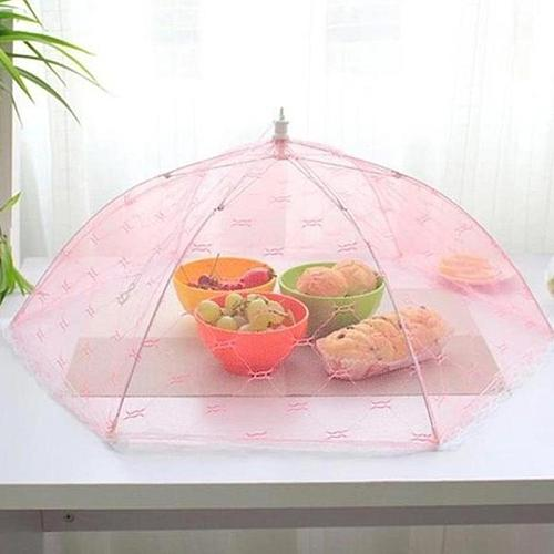 Foldable Mesh Food Covers Lace Table Cover Umbrella Style Hexagon Gauze Meal Anti Fly Mosquito Kitchen Gadgets Cooking Tools