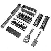 10Pcs/set Easy To Use DIY Sushi Maker Rice Mold Kitchen Sushi Making Tool Set For Sushi Roll Kitchen Cooking Gadget