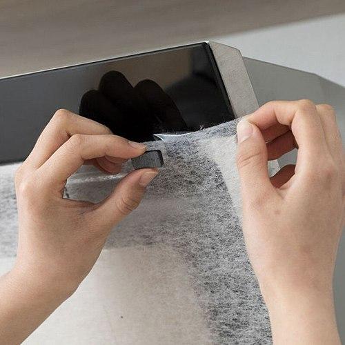 Kitchen Oil Sticker Range Hood Oil Filter Paper Moisture-proof Transparent Oil-Absorbing Paper Oil-Proof Sticker Kitchen Supply