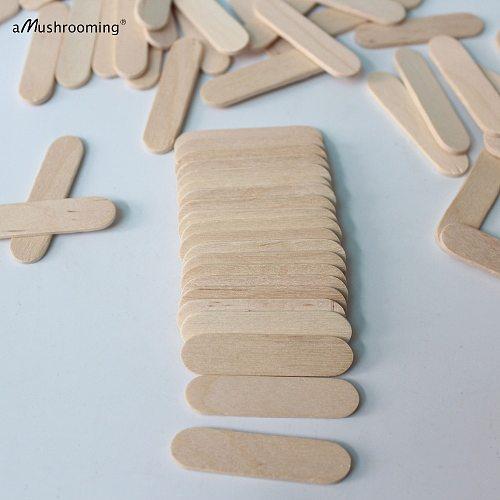 200 Customized Mini Wooden Craft Sticks 1.6 Inches Small Lollipop Sticks Body Cream Cosmetics Spatula Disposable Sugar Scrub