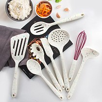 8-piece Kitchen Accessories Cooking Silicone Spatula High Temperature Household Cooking Spatula Soup Spoon Frying Spoon