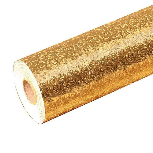 self-adhesive wall paper Gold Waterproof Oil-proof Self Adhesive Kitchen Aluminum Foil  Oil-proof paper Wall Sticker Decor #25